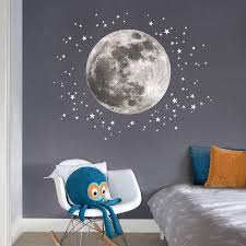 wall decal amazing look with moon and stars wall decals moon kids room moon and stars wall decals moon and stars fabric wall sticker