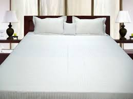Single Bed Duvet Buy Pure Egyptian Cotton Single Bed Quilt Cover White Stripe