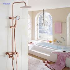popular luxury shower head system buy cheap luxury shower head dofaso luxury rose gold copper shower faucet bathroom antique shower set 8