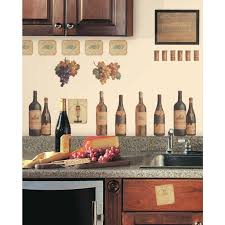 white kitchen idea with wine decor for impressive look wine