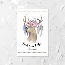 poster size deer head printable bohemian deer print find your