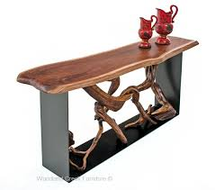 Designer Console Tables Modern Driftwood Console Table Contemporary Sofa Table Organic