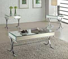 Mirrored Top Coffee Table Modern Mirrored Top Coffee Table