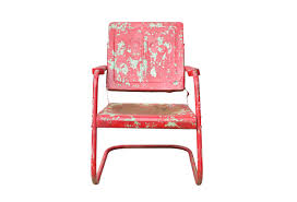 Retro Metal Patio Furniture - vintage red metal patio chair omero home
