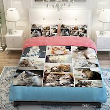 Duvet Covers Kids 3d Animal Cat Bedding Sets Kids Twin Full Queen King Size Boy