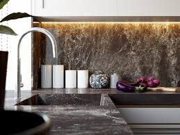 Marble Kitchen Backsplash Interior Black Marble Kitchen Backsplash Art Deco Interior