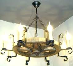 Rustic Candle Chandeliers Wrought Iron Candle Chandeliers Non Electric Medium Size Of Candle