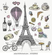 paris sketch illustration stock vector 565489669 shutterstock