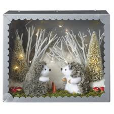 martha stewart home decorators martha stewart living 11 in lighted hedgehog diorama 9733900730