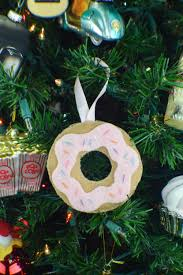 diy felt donut ornament reverate