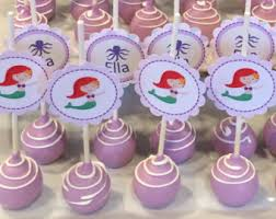 themed cake pops mermaid cake pops etsy