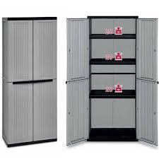 armadietto da balcone armadio in resina antiurto da esterno 90x54 h180cm 2 ante 3