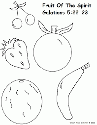 fruits of the spirit coloring page kids coloring