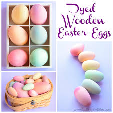 wooden easter eggs that open dyed wooden easter eggs what can we do with paper and glue