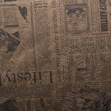 Retro Upholstery Designer Vintage Retro Newspaper Print Faux Leather Vinyl Bag
