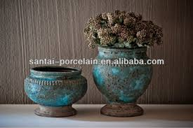 Shabby Chic Flower Pots by Mm94 Shabby Chic Ceramic Pots Home Decorations Turquoise Buy