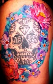 sugar skull meaning with on thigh insigniatattoo com