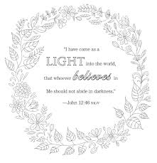 jesus is the light of the world coloring page nativity coloring