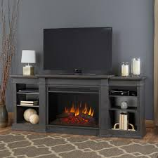 Electric Fireplace Entertainment Center Real Eliot Grand 81 In Entertainment Center Electric