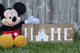 Disney Home Decorations by The Original Disney Home Sign On Stain Wood Hand Painted