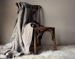 Linen Bed Dove Grey Heavy Linen Bed Cover Coverlet Linen Summer