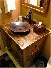 Diy Rustic Bathroom Vanity - vanities delancy rustic lighting rustic vanity light shades