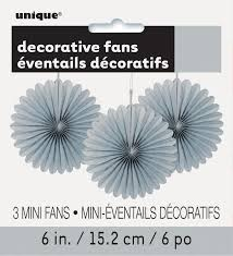 New Year Decorations Ebay by 3 X Pretty Silver Paper Fans Hanging Decorations Christmas New