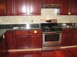 Cherry Wood Kitchen Cabinets With Black Granite Cherry Kitchen Cabinets Black Granite Blatt Me