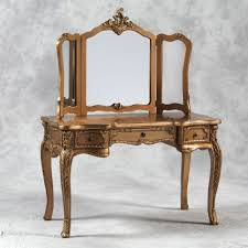 french style dressing table cheap large antique gold french style dressing table and triple mirror