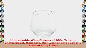 unbreakable wine glasses 100 tritan shatterproof reusable