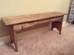 Antique Foyer Bench Rustic Bench Entryway Bench Distressed Wood Bench