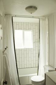 how to install a ceiling mounted shower curtain