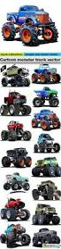 cartoon monster truck vector 15 x eps stock images web graphics
