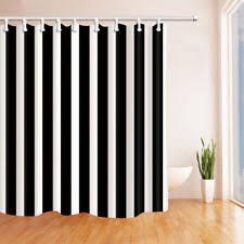 Black White Shower Curtain Black Shower Curtain Ebay