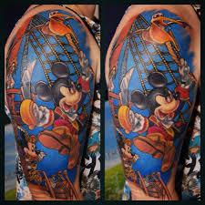 tattoo sleeve cartoon colour color tattoos tattooing disney