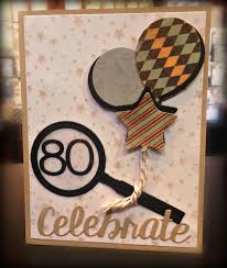 bunny runs with scissors 80 year old birthday card