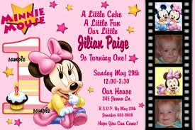 templates free baby minnie mouse baby shower invitation template