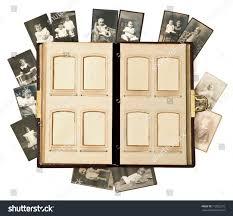 open antique photo album pages baby stock photo 112832275