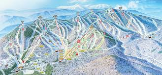 United States Map Mountains And Rivers by Sunday River Ski Resort Skimap Org