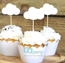 custom cupcake toppers baby shower theme cloud cupcake toppers custom cupcake toppers