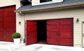 Exterior Door Wood Bifold Doors Weatherproof Wood Garage Door Non Warping Patented