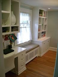 kitchen desk window seat and boocase window seat kitchen