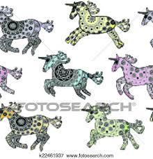 imagenes de unicornios en caricatura clip art seamless con caricatura unicornios encima un fondo