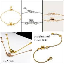 stainless gold bracelet images Fabjewels4less stainless steel 316l bracelet rose gold plated jpeg