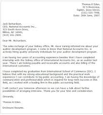 examples of accounting cover letters 8927