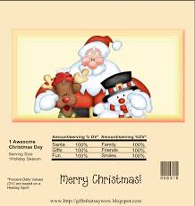 christmas candy bar wrapper template template design