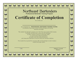 Professional Bartending Resume Bartender Certification Stevejobssecretsoflife Org