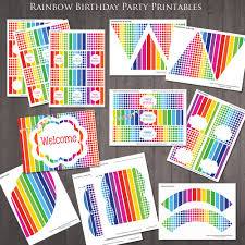free printable rainbow stationery free party printables cloudinvitation com