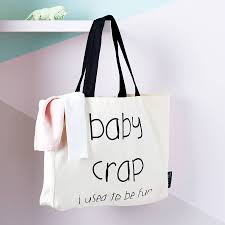 baby crap i used to be tote bag by lola gilbert ltd