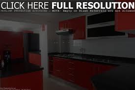 Red Cabinet Kitchen Red Kitchen Cabinets With Black Granite Amazing Perfect Home Design
